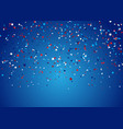 confetti background for 4th july holiday vector image