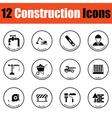 Construction icon set vector image vector image