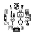 cosmetics icons set simple style vector image