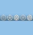 decorative christmas balls set templates vector image vector image