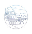 degraded line medieval coliseum rome with nice vector image vector image