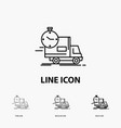 delivery time shipping transport truck icon in vector image vector image