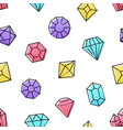 diamonds jewelry - colorful flat design style vector image