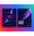 electro party music flyer template invitation vector image vector image