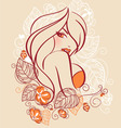 face women floral vector image vector image