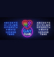 gay club neon sign logo in neon style light vector image vector image