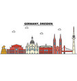 germany dresden city skyline architecture vector image vector image