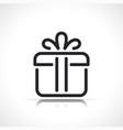 gift box thin line icon vector image