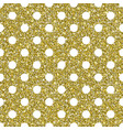 gold glitter dots pattern background vector image vector image