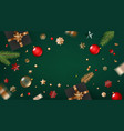 holiday greeting frame banner with holiday vector image vector image
