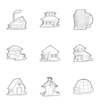 Housing icons set outline style vector image vector image
