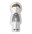just married man drawing vector image vector image