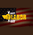 labor day usa label or horizontal vector image