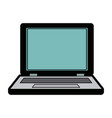 laptop computer device electronic network vector image vector image