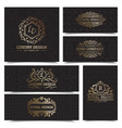 luxury products labels design set vector image
