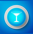 martini glass icon isolated cocktail icon vector image vector image