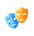 masks smiling and crying feeling icons vector image