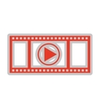 media player isolated icon design vector image vector image