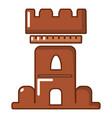 medieval castle icon cartoon style vector image