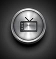 Metallic television icon