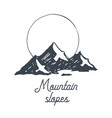 mountain logotype logo sunrise birds sketch vector image