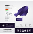 niger map vector image