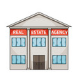 office real estate agencyrealtor single icon in vector image vector image