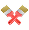 paintbrushes crossed tools icon vector image