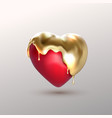 realistic 3d heart shape vector image vector image