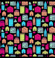 seamless pattern color houses-05 vector image vector image