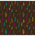 Seamless vintage pattern with hand drawn feathers vector image vector image