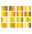 set of golden gradients gold background wealth vector image