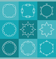 set of outline emblems and badges in hipster style vector image