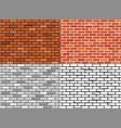 set seamless brick wall textures vector image vector image