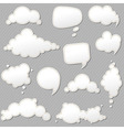 Speech Bubbles Set With Grey Background vector image vector image