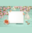 spring top view background vector image vector image