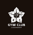stock emblem for gym club vector image vector image