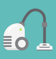 vacuum cleaner flat icon electric and appliance vector image vector image