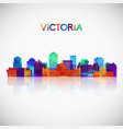 victoria skyline silhouette in colorful geometric vector image vector image