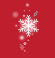 white snowflakes form vector image vector image