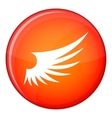 Wing icon flat style vector image vector image