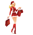 Woman Shopping for Christmas vector image vector image