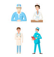 doctor icon set cartoon style vector image