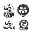Fitness set of emblems labels badges vector image