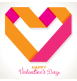 paper origami heart vector image