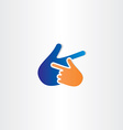 human hand pointer icon vector image
