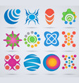 abstract icons set of icons for design vector image vector image