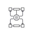 algorithm of decisions line icon concept vector image vector image