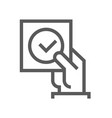 approve line icon editable stroke vector image vector image