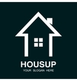 arrow up and house logo vector image vector image
